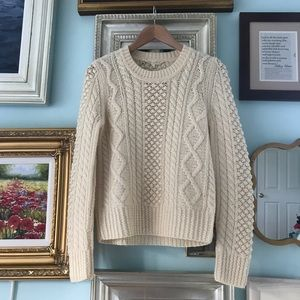 Alexa Chung for Madewell cable knit wool sweater